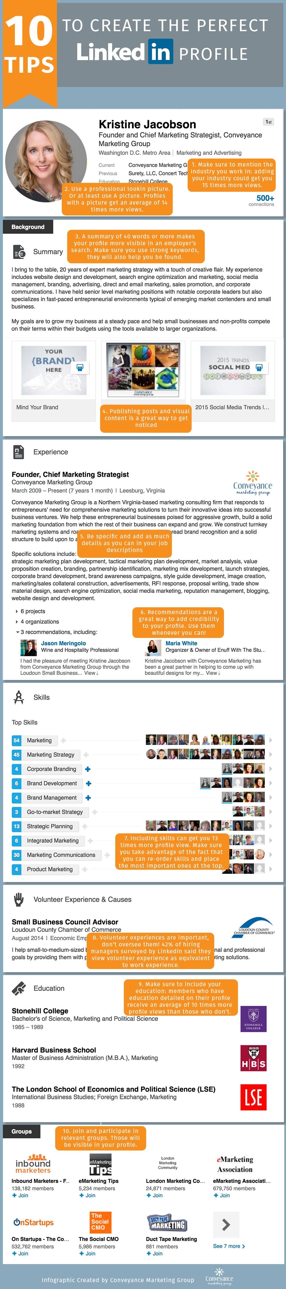 10 Tips to Create the Perfect LinkedIn Profile, Marketing Strategy, Social Media