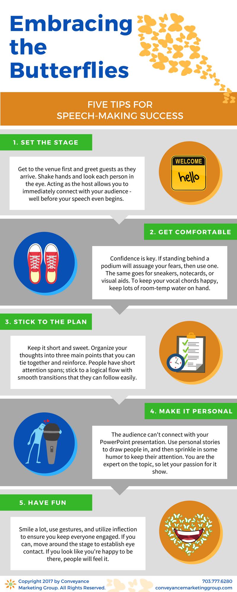 five tips for speech-making success