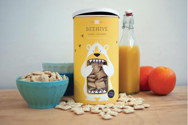 Creative Imagery in Packaging Beehive Honey Squares, Branding