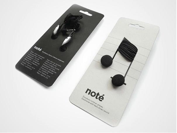 Creative Imagery in Packaging Note Headphones, Branding