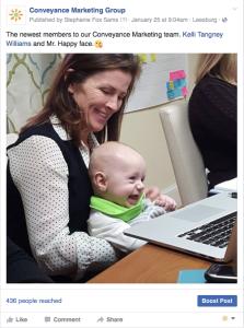 Facebook Behind the scenes posts