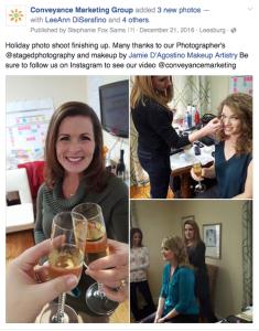 Facebook Post Behind the scenes photos