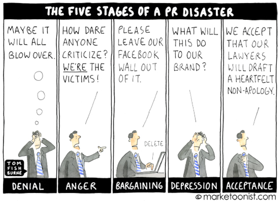 5 stages of a PR disaster